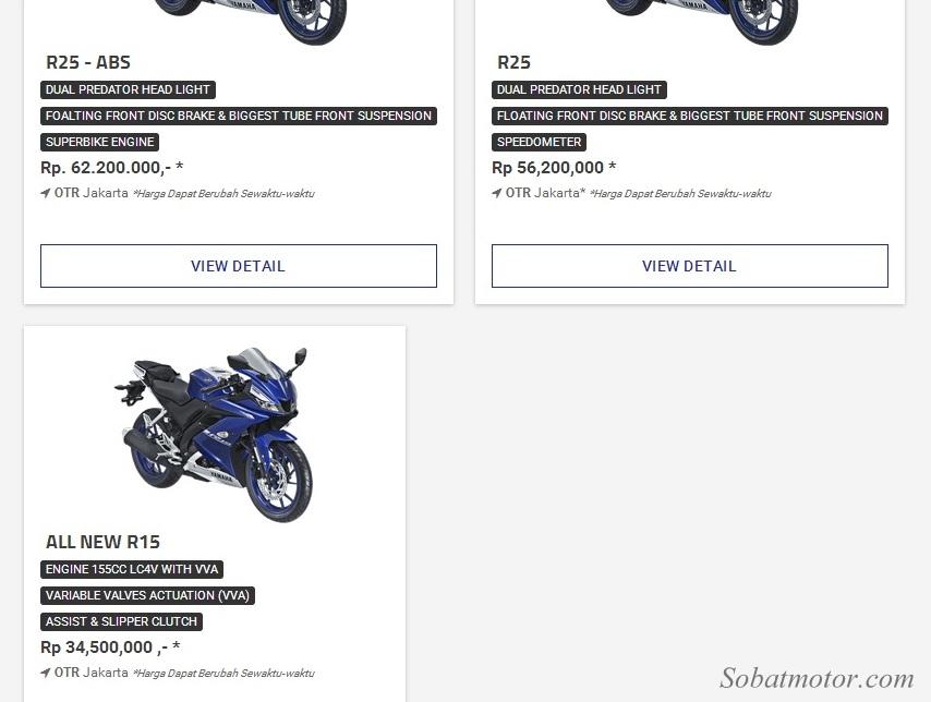 All New Yamaha YZF R15 V3 resmi dijual dengan harga 34 Jutaan OTR Jakarta