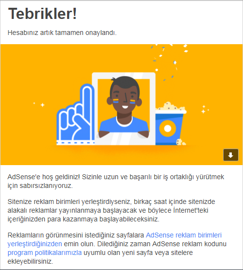 AdSense onayı