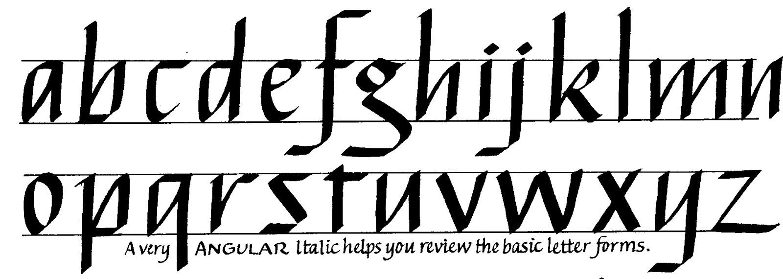 Margaret Shepherd: Calligraphy Blog: 162 Angular Italic