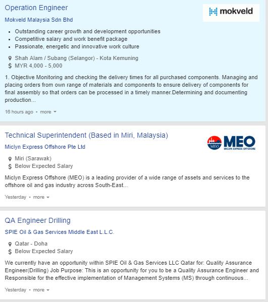 Oil &Gas Vacancies: March 2019