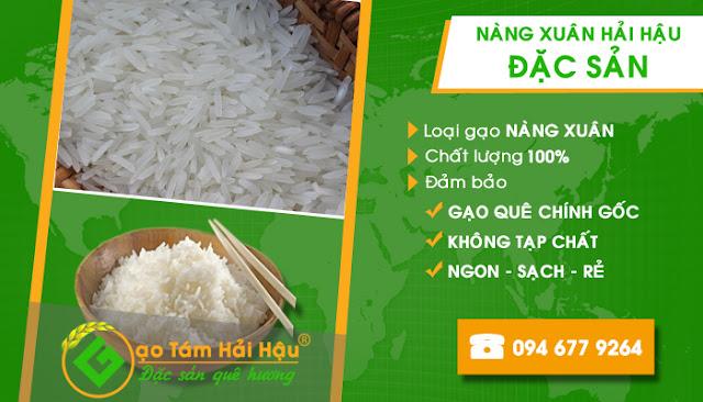 Đại lý cung cấp gạo nàng xuân chính gốc Hải Hậu Nam Định