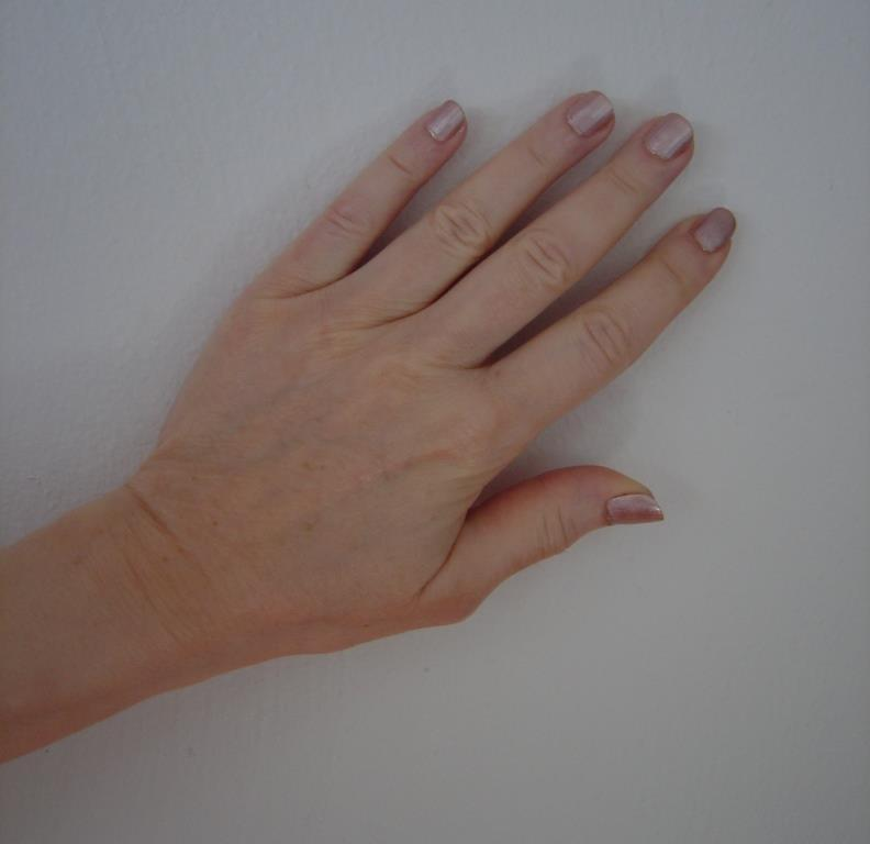 Sally Hansen #843 Pink Shell nails swatched.jpeg