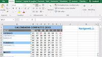 Calendario 2019 da scaricare, stampare e creare in PDF o Excel, compatto e tascabile