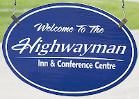 highwayman inn orillia entrance sign