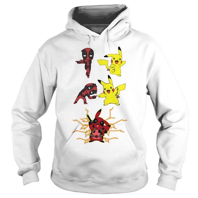 Pikapool Deadpool Pikachu Fusion Hoodie, Pikapool Deadpool Pikachu Fusion Sweatshirt, Pikapool Deadpool Pikachu Fusion T Shirts