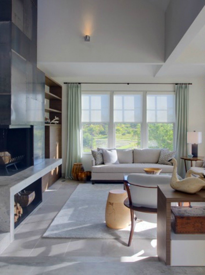 Coastal modern Nantucket living room