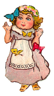 girl butterflies image vintage drawing artwork digital clipart