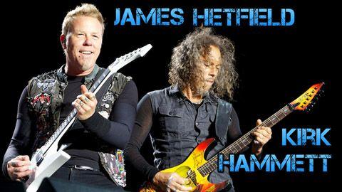 Biografía y Equipo de James Hetfield y Kirk Hammett