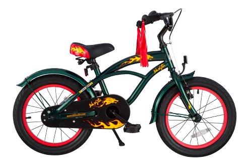 Bicicleta para niños verde Cruiser. qué regalar en navidad