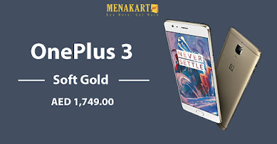 OnePlus 3 - 64GB, 4G LTE, Gold