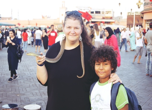 Djemaa-el Fna-serpi-maimute