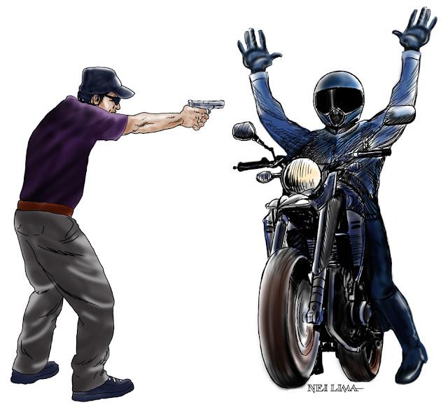 Resultado de imagem para Ladrões roubar motocicleta