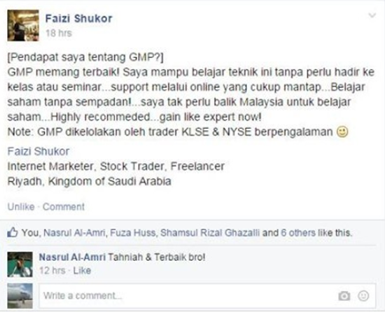 Testimonial teknik GMP teknik saham terbaik