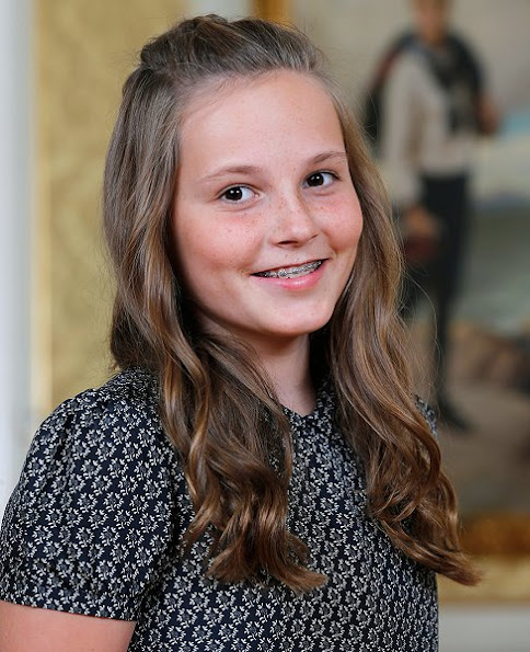 Crown Princess Mette-Marit her daughter Princess Ingrid-Alexandra celebrates 13th birthday
