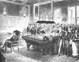 Morphy jugando ajedrez a la ciega en 1848