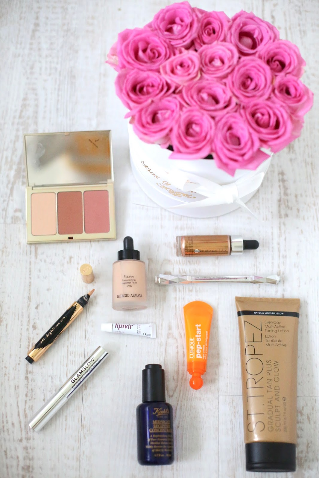 beauty blog flatlay