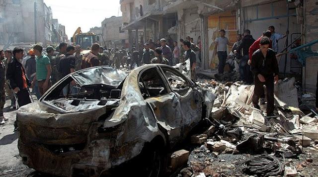 Syria: 3 xe bom cùng phát nổ, hơn 100 người thương vong