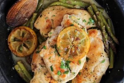 ONE PAN LEMON CHICKEN WITH ASPARAGUS #diet #glutenfree