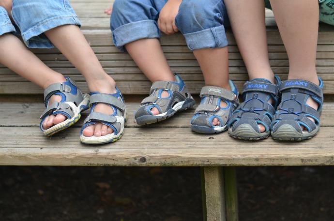 Deichmann kids shoes, closed toe sandals