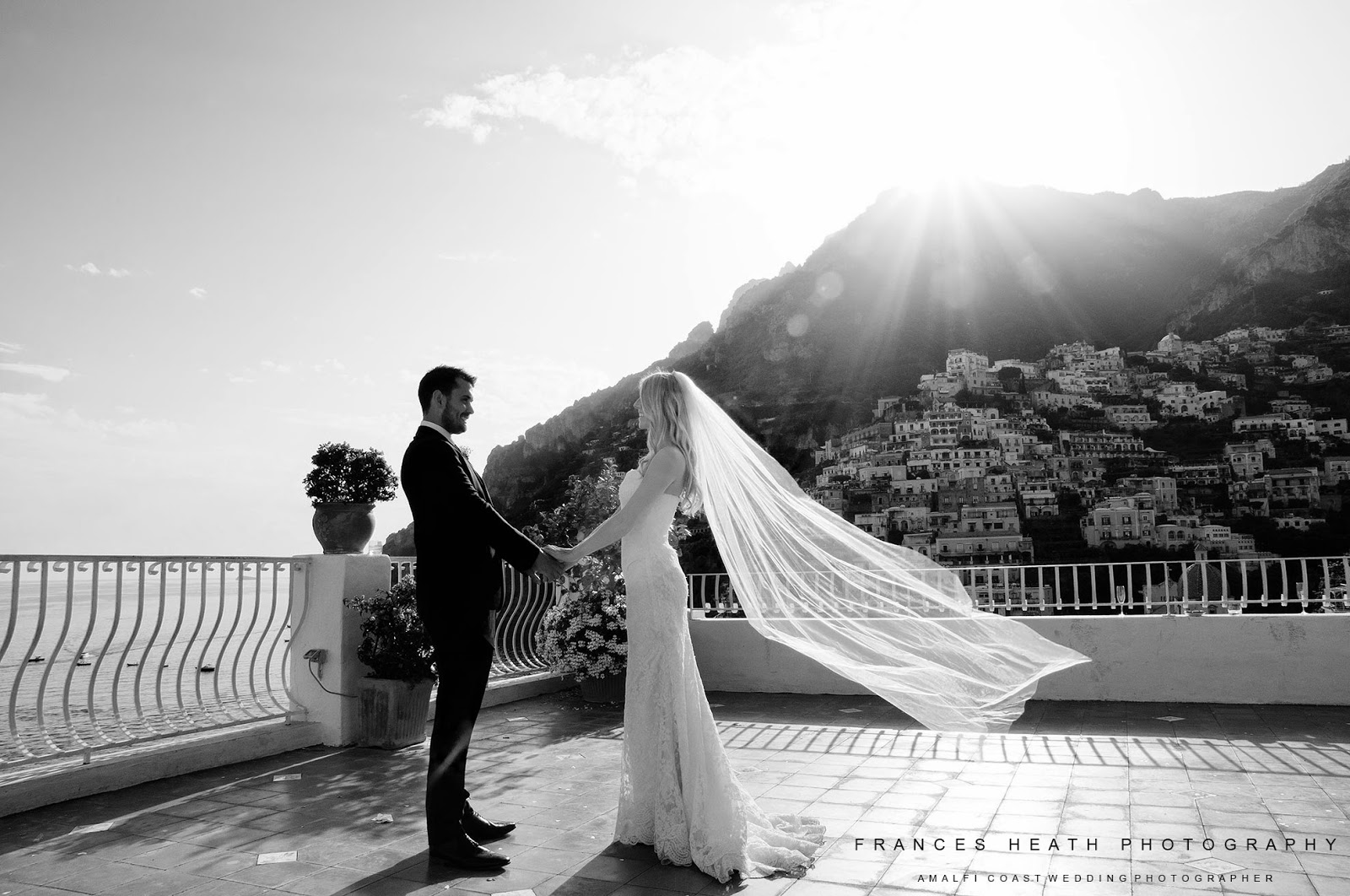 Wedding portrait at Hotel Marincanto in Positano
