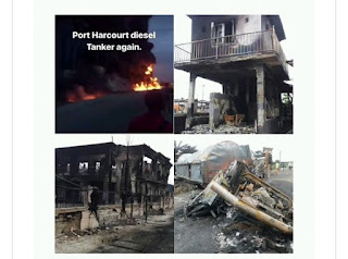 Church, hotel, shops burnt as tanker explodes in Rivers
