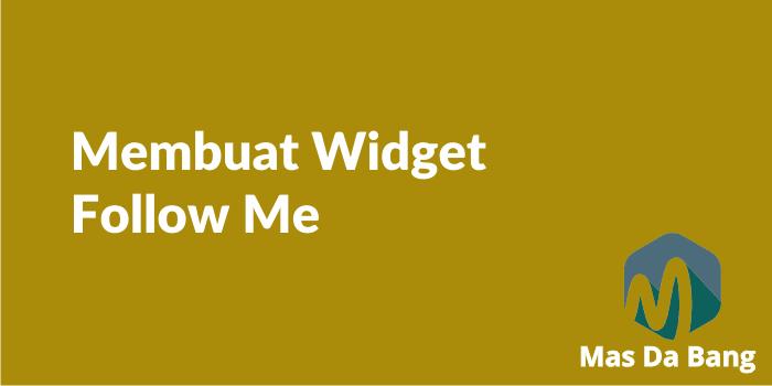 Cara Memasang Widget Social Media Keren