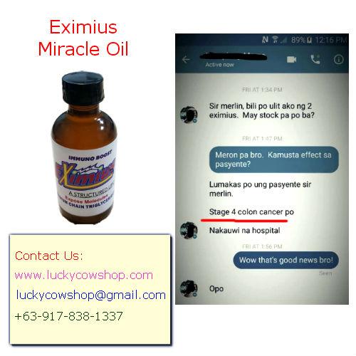 eximius miracle oil cancer testimonial