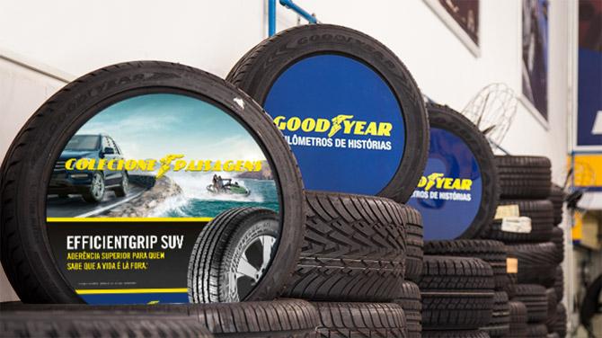 pneus aplicação
