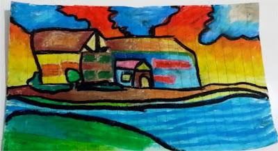 menggambar dan mewarnai rumah