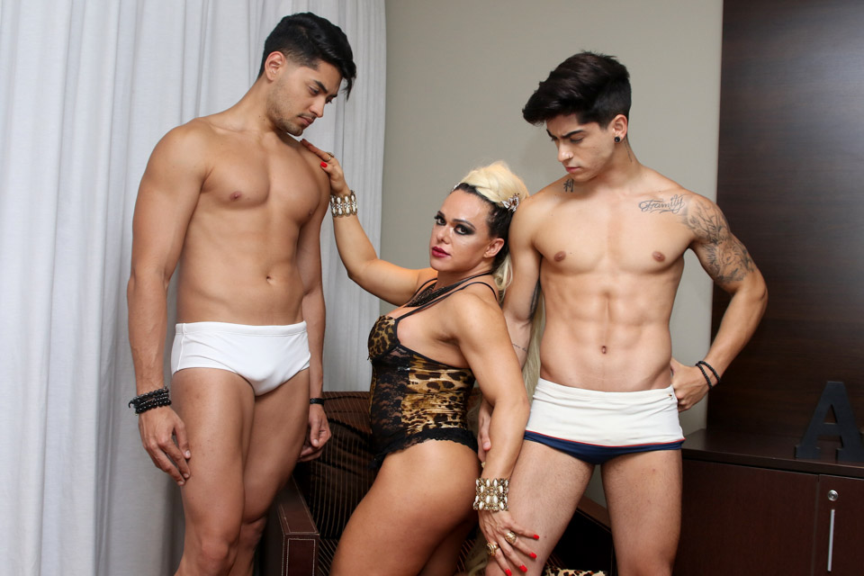 Andrea Capitulino, Willian Herculano e Henrique Lima. Foto: Thiago Duran