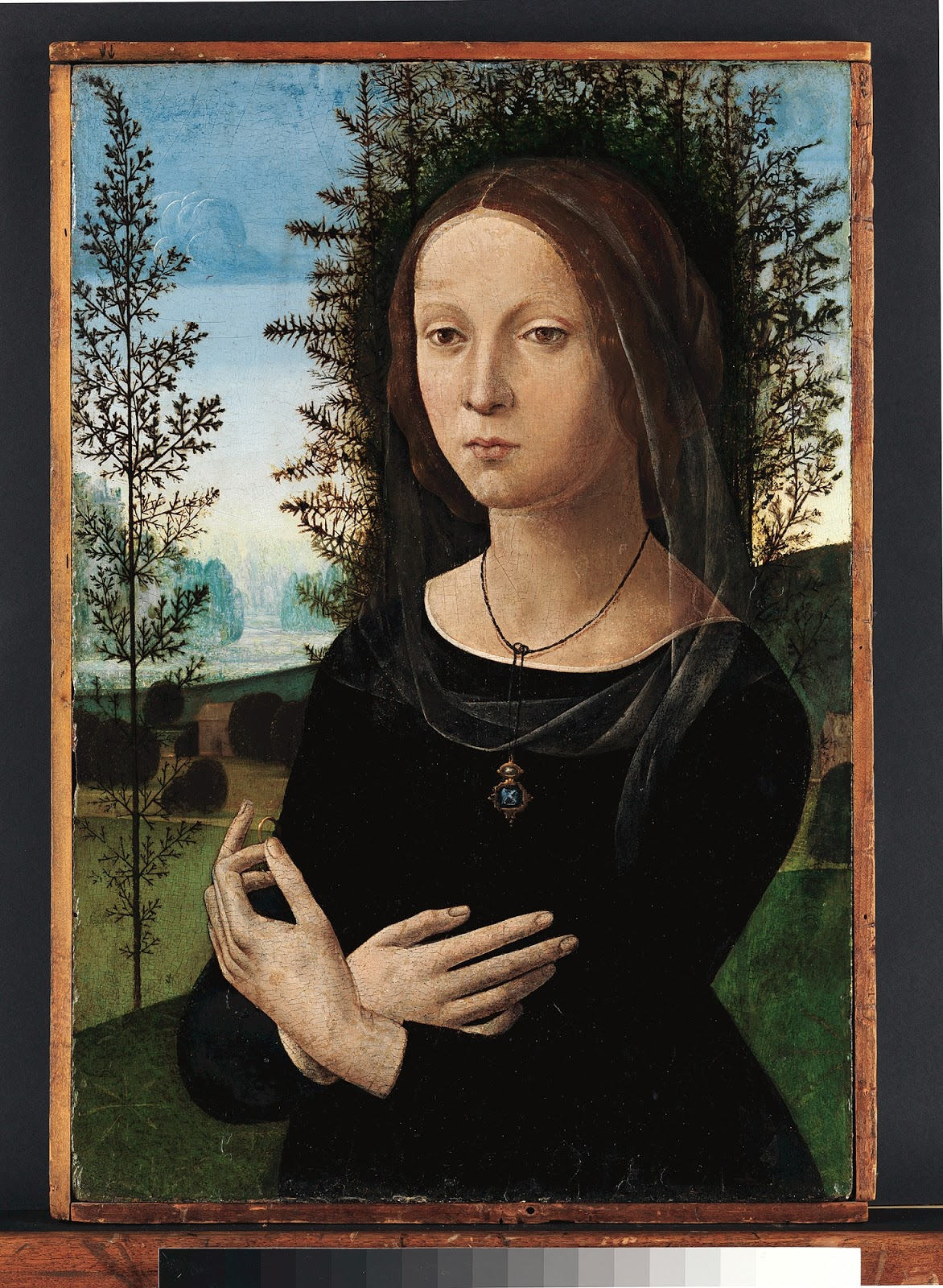Portrait Ofa Girl 14 Years In Nature Stock Image: The History Of Painting In Florence: Lorenzo Di Credi