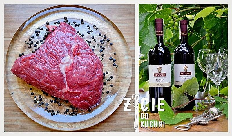 marani, marani saperavi, saperavi, gruzinskie wino, wino do czerwonego miesa, wino do steka, wino do sera, stek, kawal miecha, zycie od kuchni, wino i mieso