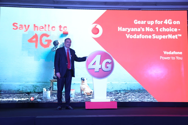 Sunil Sood_MD Vodafone India launching 4G services in Karnal