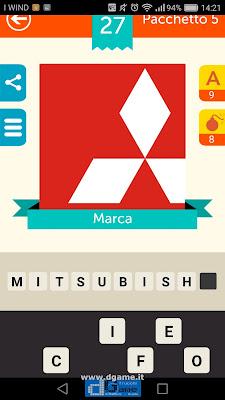 Iconica Italia Pop Logo Quiz soluzione pacchetto 5 livelli 27-75
