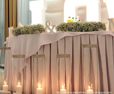 stół młodej pary dekoracja