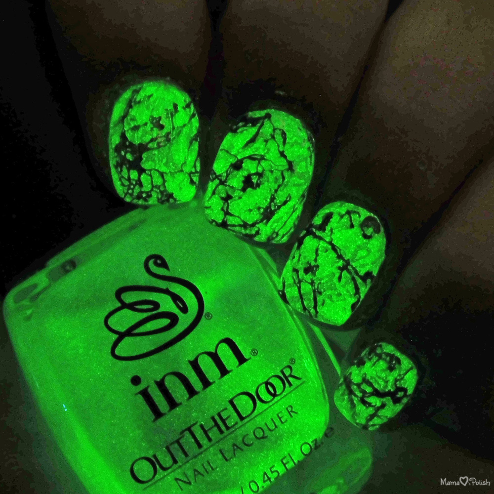 Glow in the dark marble stone nail art mama hearts polish glow in the dark stone marble nail art prinsesfo Images