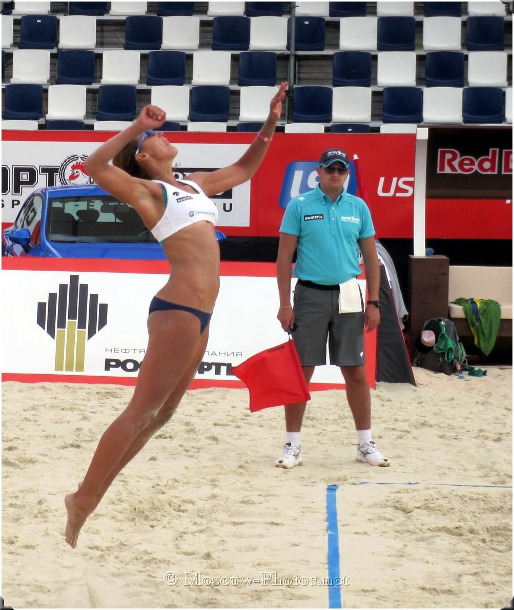 Beach Volleyball Jump Serve