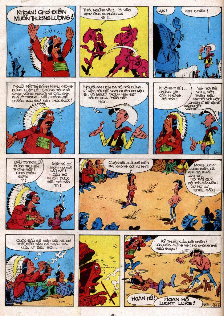 Lucky Luke tap 3 - doan lu hanh trang 35