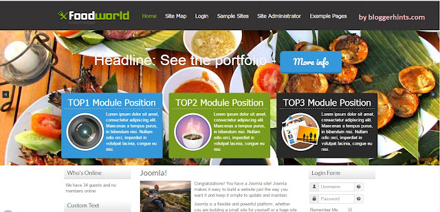 Food World Blogger Template