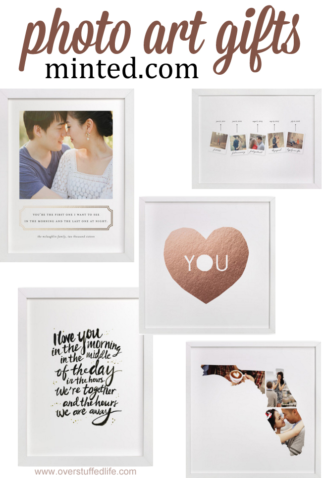 Looking for a gorgeous gift to give your Valentine? Try one of these art gifts from minted.com. #overstuffedlife