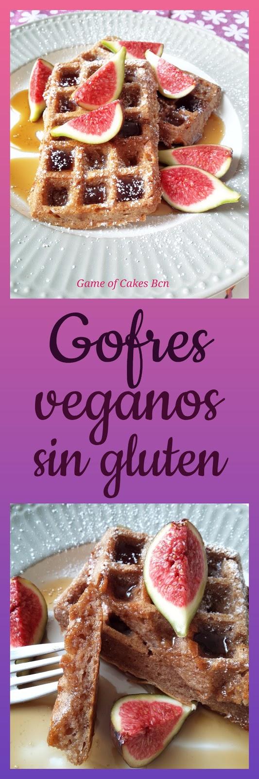 Gofres veganos y sin gluten