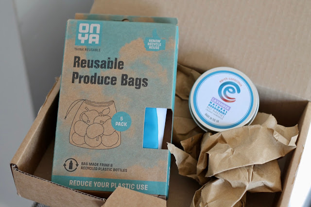 Earthwise Girls order, reusable produce bags, earth conscious deodorant, reducing waste, zero waste