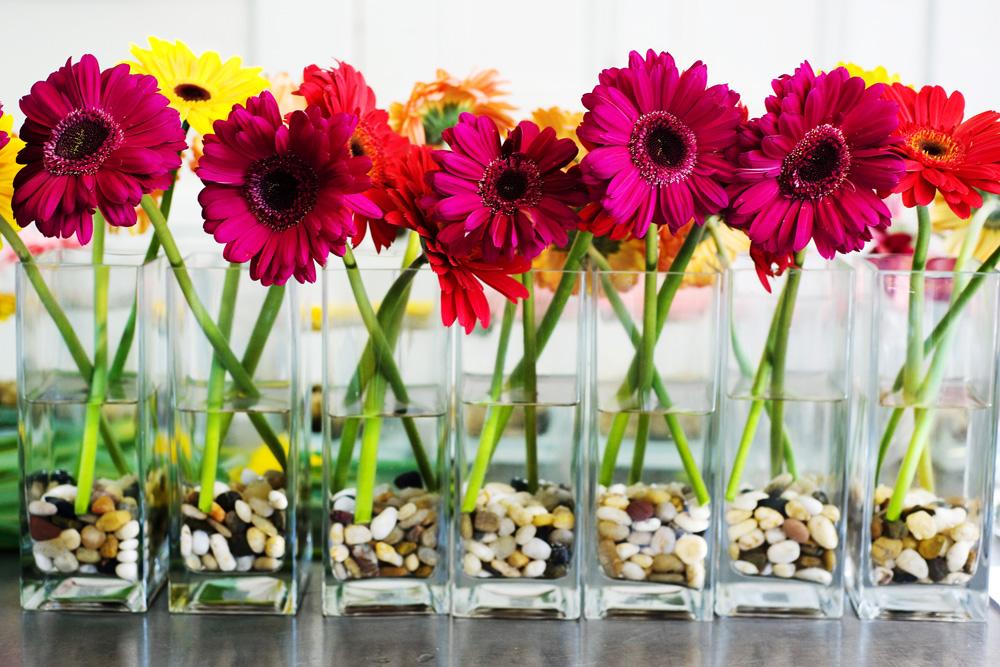 Wedding Decor: Garden Themed Centerpieces