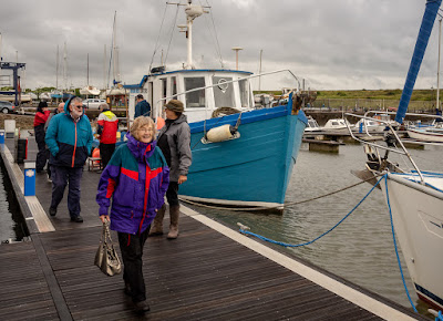 Photo of passengers disembarking after their boat trip