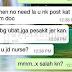'No Need Post Kat FB Macam Doc, Tak Rasa Malu Ke Jadi Nurse?'