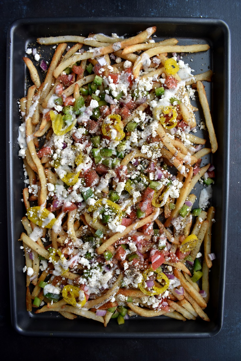 Loaded Greek Street Fries
