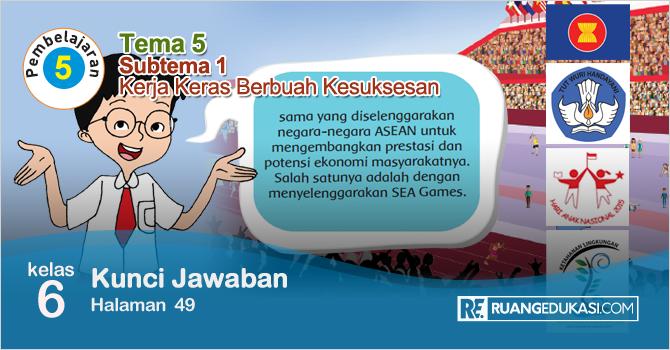 Kunci Jawaban Buku Tematik Tema 5 Kelas 6 Halaman 49 Kurikulum 2013