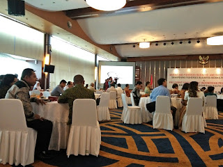 Suasana dalam Ball Room. Sarasehan pra event  6th Indonesian South Sea Festival (Dokpri)